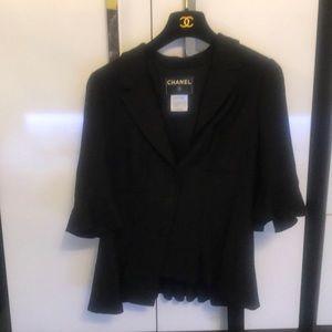 Chanel 07c wool short sleeve jacket